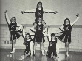 Old Cheerleading Photo