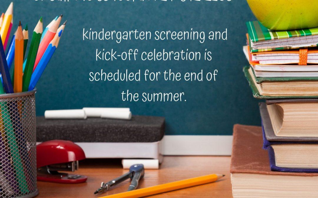 Kindergarten registration happening now!!