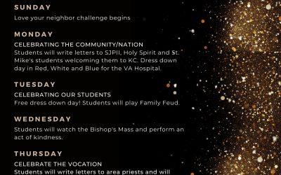 KCMS/HS Catholic Schools Week Schedule