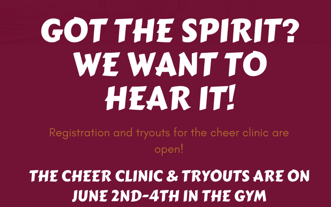 Cheerleading Tryouts-Happening Now!