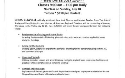 Chrysalis Stage Summer Workshop Information