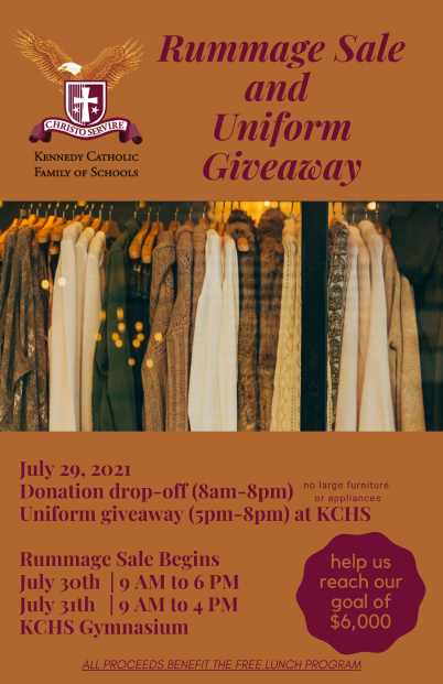 Rummage Sale and Free Uniform Giveaway
